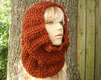 Burnt Orange Cowl Scarf - Twilight Cowl Chunky Thick Knit Cowl - Burnt Orange Scarf Womens Accessories Winter Cowl Fall Fashion