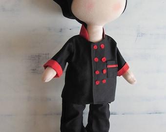 Cook doll, fabric doll, textile doll, cloth doll, tilda doll, tilda, handmade doll, personalized doll, christmas present, decor for home