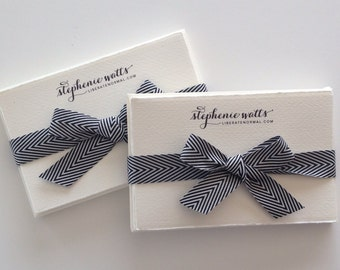 Custom Stationery - Set of 20 - custom note card set with your logo - Size 3.25 x 5.5