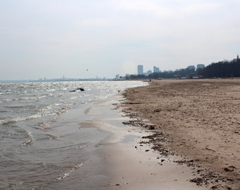 Lake Michigan Beach Water Waves Milwaukee WI Wisconsin - Lake Park Urban Nature Landscape Fine Art Photo Print by Rose Clearfield on Etsy