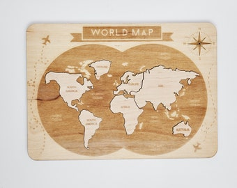 World map puzzle etsy world map puzzle world map poster puzzle box world map wall art snow globe world map art baby gift map art toy scratch map globe gumiabroncs Gallery