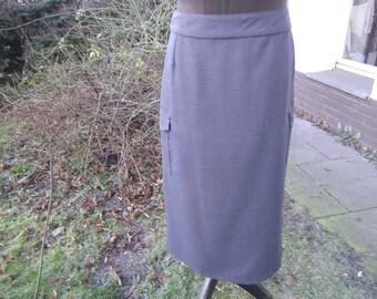 Skirt Women grey Skirt - Woolskirt - Skirt  L - Plus Size Winterskirt - Womenskirt - Skirt with Bags