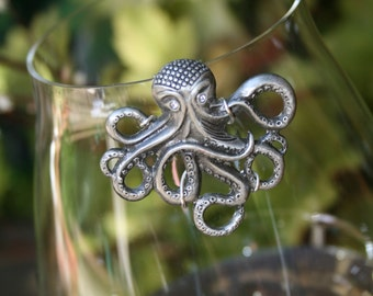 Octopus Wine Glass Marker