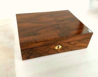Solid English Walnut Stashbox