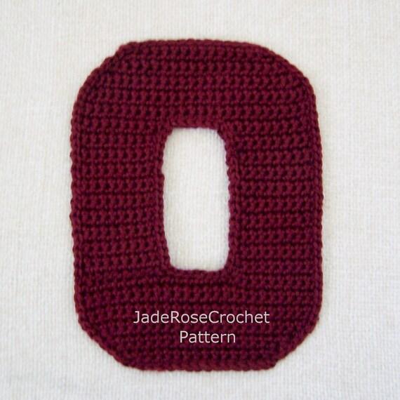 Crochet Letters Patterns O 3d Accent Pillow Alphabet Applique
