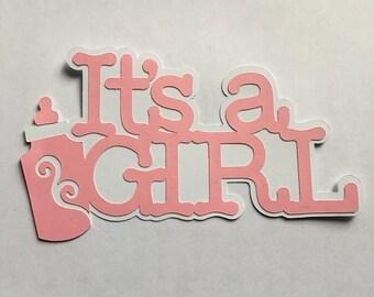 It's A Girl Die Cut