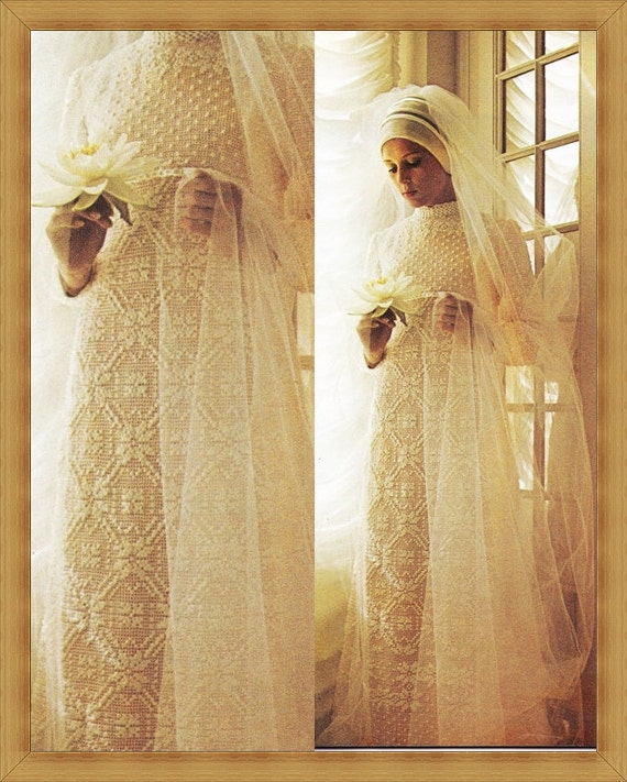 Vintage Crochet Wedding Dress Pattern PDF INSTANT DOWNLOAD