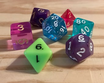 Polyhedral D&D Tabletop RPG Dice Set - Goodberry