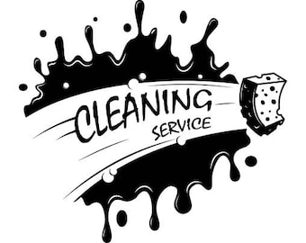 Cleaning Logo #3 Maid Service Housekeeper Housekeeping Clean Company House .SVG .EPS .PNG Digital Clipart Vector Cricut Cutting Download