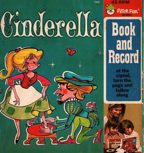 Cinderella Peter Pan Records + Vintage Kids Book