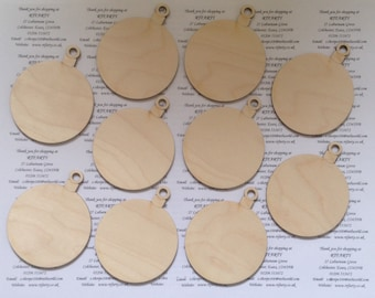25 (100mm) blank Christmas baubles