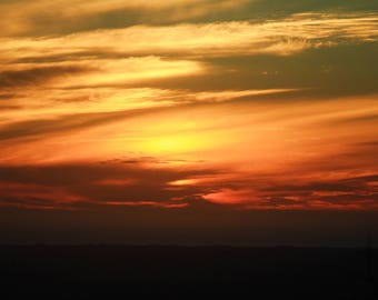 Fire in the Sky Photographic Wall Art