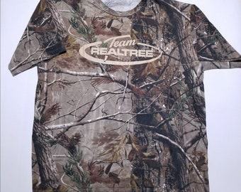 Team Real Tree Brown Woods Forest Camouflage T Shirt 2XL