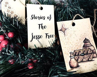 Advent Ornaments and Family Devotions : Stories of the Jesse Tree (instant download)