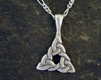 Sterling Silver Celtic Triad Pendant on a Sterling Silver Chain