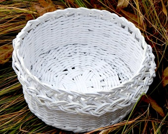 Basket made out of Recycled Law book