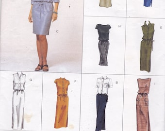 Vogue Easy Options 2394 Vintage Pattern Womens Semi- Fitted Dress in 9 Variations Size 12,14,16 UNCUT