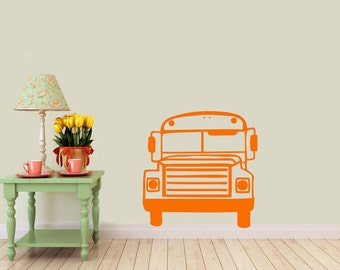 Bus, vinyl Wall DECAL- Animal interior design, sticker art, room, home and business decor