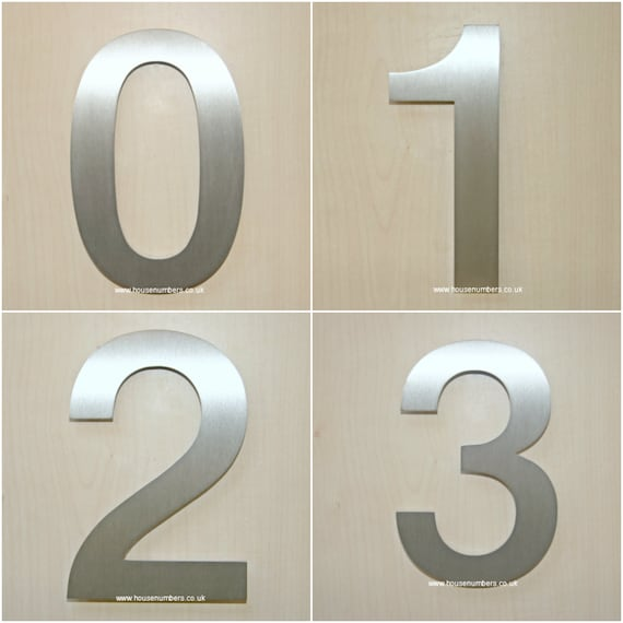 Moderne Hausnummern helvetica hausnummern rostfreiem stahl moderne hausnummern
