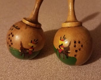Wooden Salt and Pepper St. Thomas VI