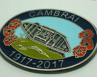 WW1 1917-2017 Battle Of Cambrai Enamel Badge