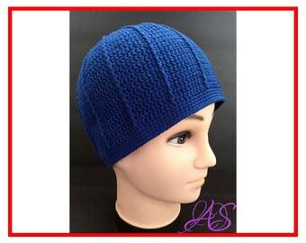 Beanie Hat Crochet Pattern for Men / Boy (spring/autumn) - Instant Download PDF Beanie Crochet Pattern
