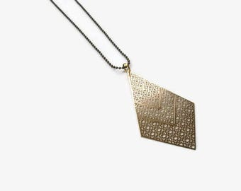 Geometric Necklace Gold Necklace Minimal Necklace Modern Necklace Simple Necklace  Charm Necklace Pendant