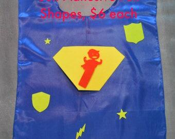 Superhero DIY Cape Decorating Kit. Superhero Cape Super hero Cape. Cape kit for parties. Party Favor Capes. Superhero Party Favors.