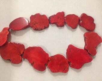 Magnesite Turquoise slab,red