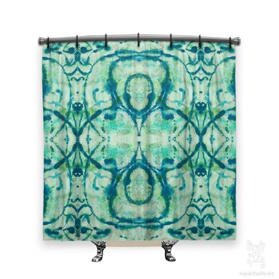 BOHO Shower Curtain, Hippie Shower Curtain, Blue Shower curtain, shower curtain, shower curtains, Fabric shower curtain, Bathroom Art, blues