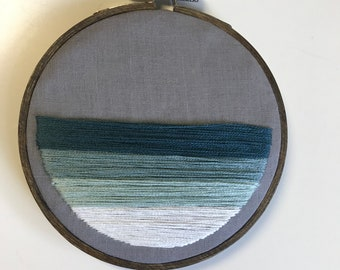 Ombre embroidery hoop. Hand embroidery.