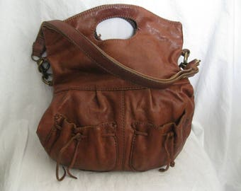 Lucky Brand Brown Leather Shoulder Bag