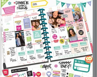 Planner Basics 1829 Stickers Sale Happy Planner Value Pack Stickers - Planner Basics/Daily Notes/Important Dates