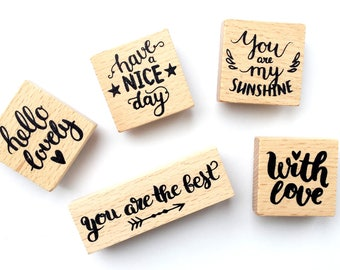 Wood - set of 5 stamps