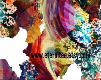 Art print contemporary abstract original art  paint photography