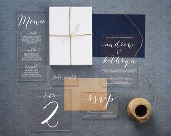 Acrylic Menu, acrylic wedding menus, lucite wedding, wedding menus, acrylic dinner menu, menus, acrylic wedding signs