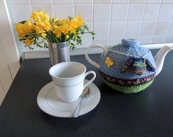 Washing Day Tea Cosy hand knitted