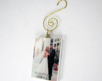 Custom Photo Ornament - Gold Edition Holiday Keepsake- Small