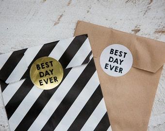 20 Round Stickers // Best Day Ever
