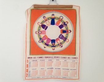 Tea towel - Union of French women - 1982