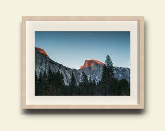 Yosemite Valley, Half Dome Sunset // Yosemite National Park