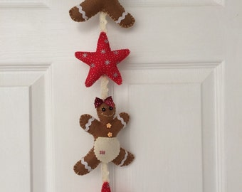 Felt Gingerbread and Star Bunting