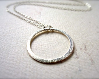 Eternity Petite Necklace - silver circle necklace, eternity necklace, eternity circle necklace, bridesmaid gift