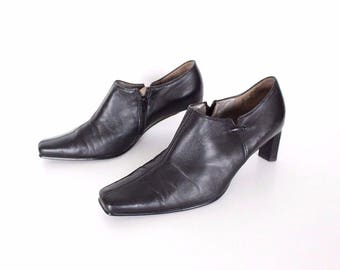 "Women's Vintage GABOR ""Fashion"" Straight Heel Court  Black 100% Real Leather Shoes Size UK 6.5 EU 39.5"