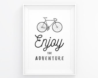 Bike Poster, Bicycle Art, Print Bike, Quotes Bike, Bicycle Prints, Printable Bike, Wall Art Bike, Wall Prints Bike, Bicycle Wall Decals