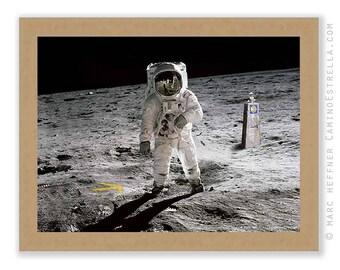 "Art print ""Walking on the moon"" Camino de Santiago"