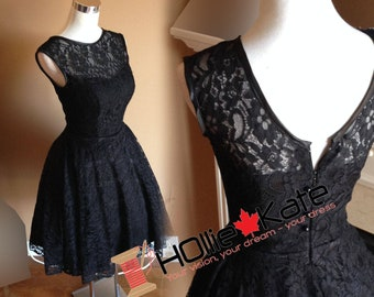 Vintage inspired lace bridesmaid dress, Audrey Hepburn dress, 1950s dress