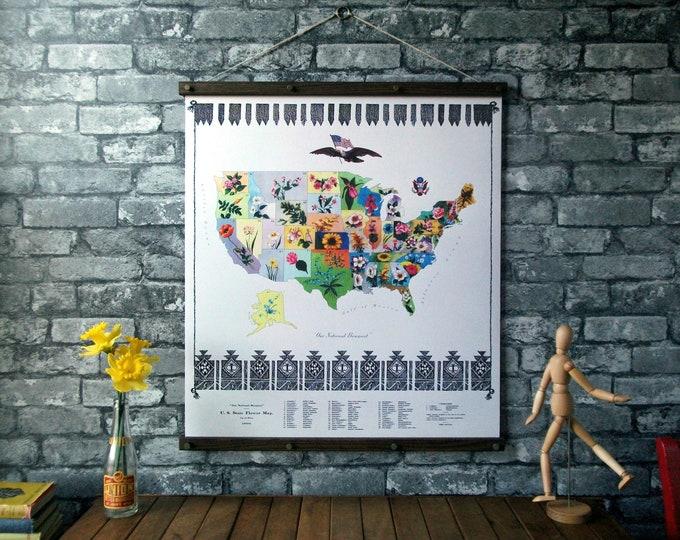 U.S. State Flower Map