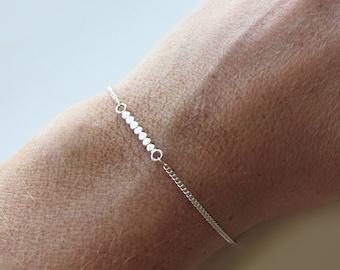 Fine Minimalist Silver Bracelet, 925 Sterling Silver Bracelet, Delicate Bar Silver Bracelet, Simple Silver Bracelet, Dainty Jewelry