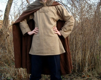 Medieval Viking cloak, medieval pattern, historical costume, Middle Ages, coat for man, a semicircle coat, Scandinavia